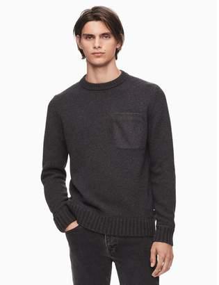 Calvin Klein regular fit crewneck felt pocket sweater