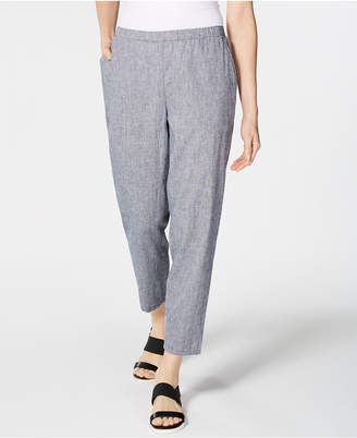 Eileen Fisher Pull-On Tapered-Leg Pants, Regular & Petite
