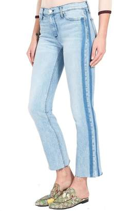 Black Orchid Denim Bardot Racer Stripe