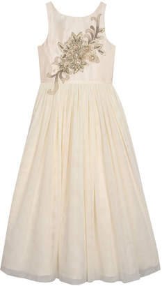 Badgley Mischka Belle By Floral Embroidered A-Line Dress Sizes 7-16