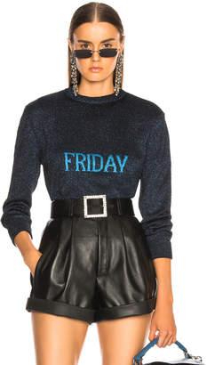 Alberta Ferretti Friday Lurex Crewneck Sweater