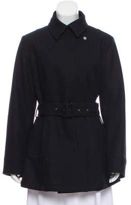 Allegri Pointed Collar Knee-Length Coat