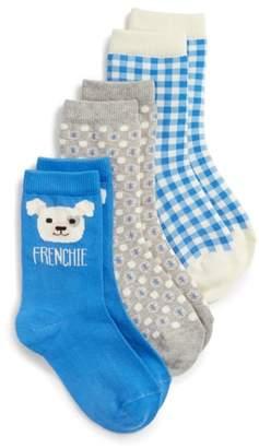 Tucker + Tate Frenchie 3-Pack Crew Socks
