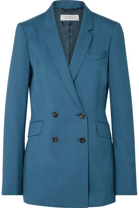 Gabriela Hearst Helena Double-breasted Wool Blazer - Teal