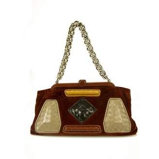 Bottega Veneta Burgundy Velvet Handbag