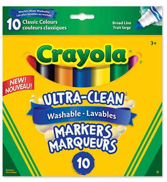 Crayola 10-Piece Broad Line Washable Markers