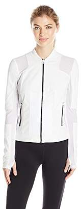 Blanc Noir Women's Run Moto Bomber Jacket