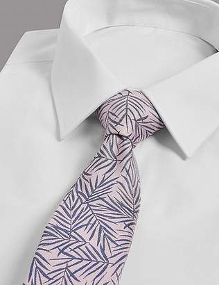 Marks and Spencer Pure Silk Leaf Tie