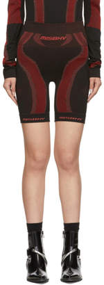 Misbhv SSENSE Exclusive Black and Red Active Shorts