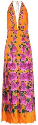 Gucci Printed silk twill dress