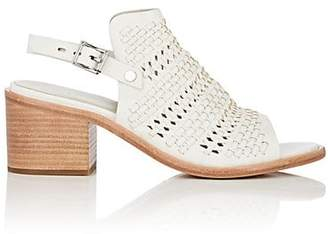 Rag & Bone WOMEN'S WYATT PERFORATED WOVEN LEATHER SLINGBACK SANDALS - WHITE SIZE 11