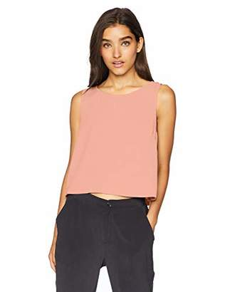Jack by BB Dakota Junior's Money Honey Heavy Crepe Top with Chiffon Back