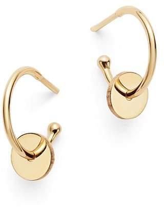 Chicco Zoë 14K Yellow Gold Washer Huggie Hoop Earrings