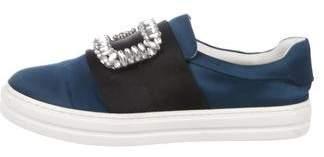 Roger Vivier Satin Slip-On Sneakers