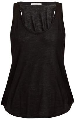 Frances De Lourdes - Patti Round Neck Cashmere And Silk Blend Tank Top - Womens - Black