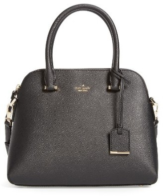 Kate Spade New York Cameron Street Maise Leather Satchel - Black $298 thestylecure.com