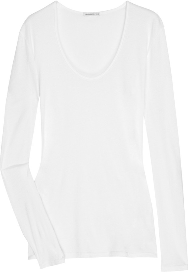 James Perse Fitted long-sleeved T-shirt