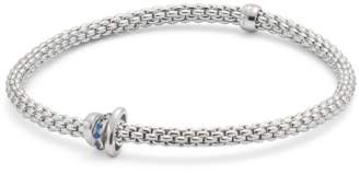 Fope Exclusive Flex'it White Gold Sapphire Prima Bracelet