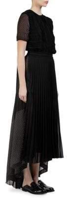 Loewe Polka Dot Pleated High-Low Dress