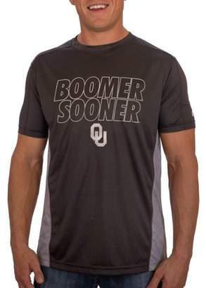 NCAA Russell Oklahoma Sooners Men's Athletic Fit Black / Storm Gray Impact Tee