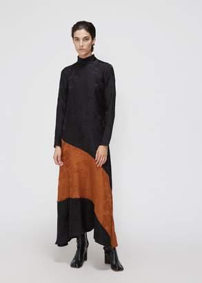 Ganni Long Sleeve Jacquard Dress