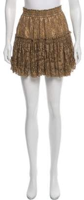 MISA Los Angeles Lace Mini Skirt