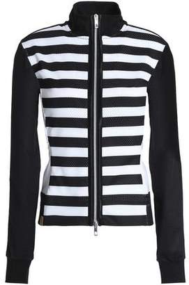 Monreal London Striped Mesh Jacket
