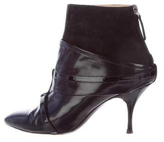 Jean Paul Gaultier Pointed-Toe Leather Ankle Boots