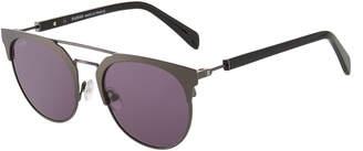 Balmain Round Browline Acetate/Metal Sunglasses