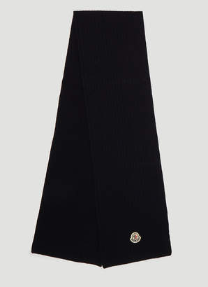 Moncler Classic Knit Scarf in Navy