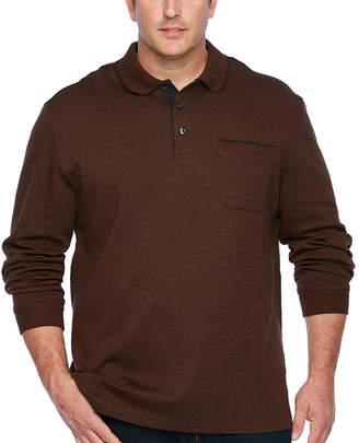 Van Heusen Long Sleeve Polo Shirt Big and Tall