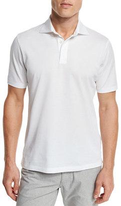 Ermenegildo Zegna Pique Polo Shirt, White $275 thestylecure.com