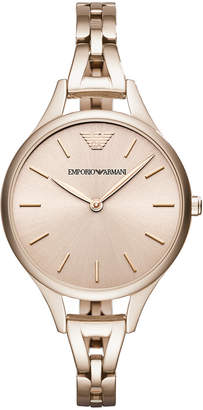 Emporio Armani Women's Pastel Pink Stainless Steel Bracelet Watch 32mm
