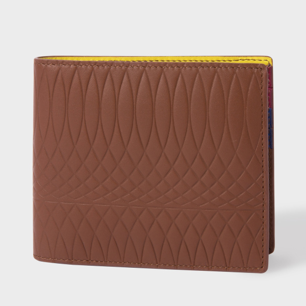 Paul SmithPaul Smith No.9 - Brown Leather Billfold Wallet With Multi-Coloured Interior