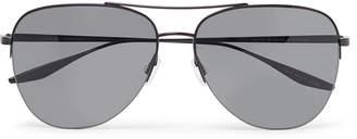 Barton Perreira Chevalier Aviator-Style Titanium Sunglasses