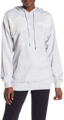 Betsey Johnson Floral Embroidered Hoodie