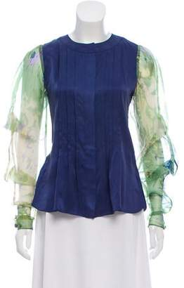 Timo Weiland Long Sleeve Pleated Top