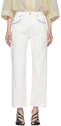 Maison Margiela White Decortique Relaxed Jeans