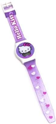 Hello Kitty Joy Toy 25427 Glitter Digital Quartz Girl' s Wrist Watch with Hearts in Blister Pack