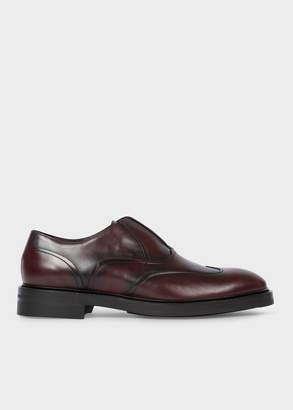 Paul Smith Men's Bordeaux 'Hicks' Laceless Leather Brogues