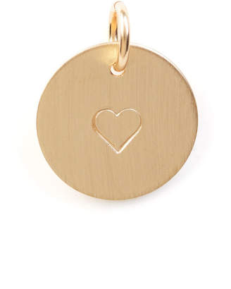 Nashelle Heart Stamped Disc Necklace Charm