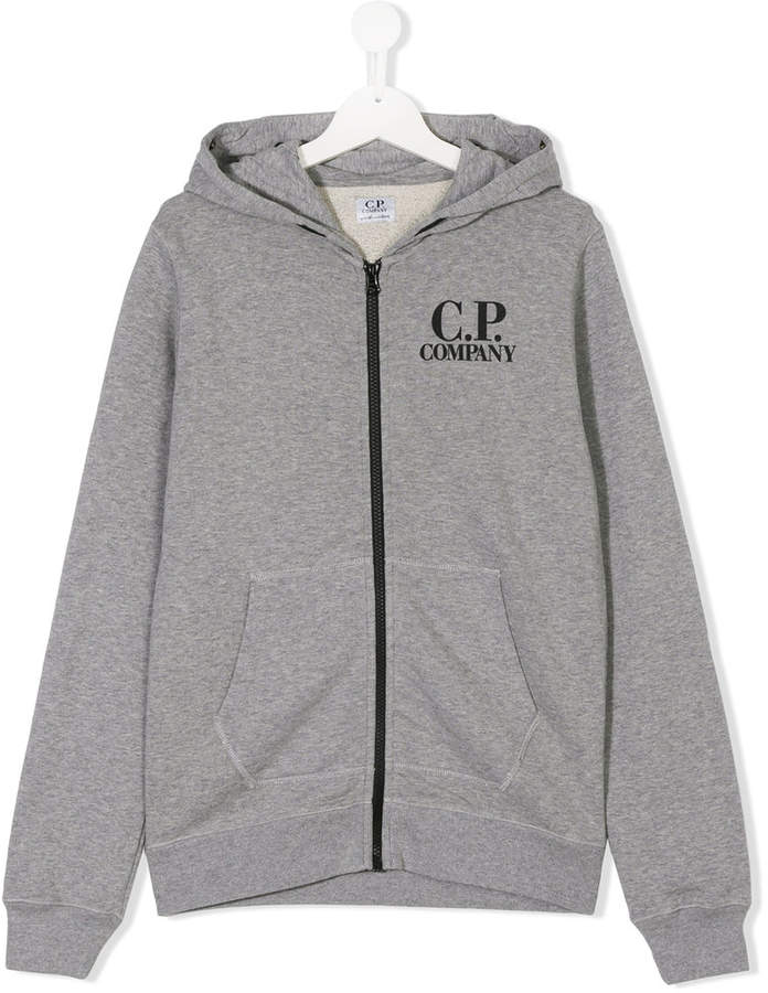 Cp Company Kids TEEN zip-up goggle hoodie