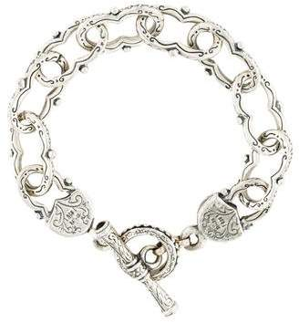 Konstantino Garnet Figure Eight Link Bracelet