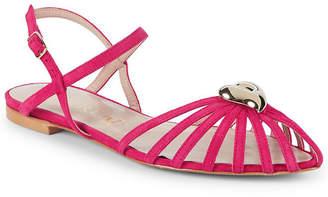 Aperlaï Heart Leather Ankle-Strap Sandal
