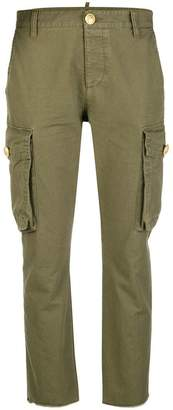 DSQUARED2 slim fit cropped cargo trousers