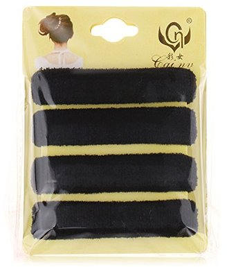 Seamless Durable Long-Lasting Elastic Hair Ties by Acorn Days, Pack of 4, Thick Black (PROMO CODE in description) $6.99 thestylecure.com