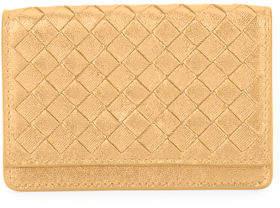 Bottega VenetaBottega Veneta Intrecciato Woven Leather Card Case