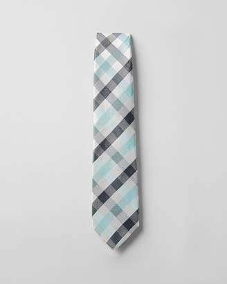 Express Narrow Silk Plaid Tie