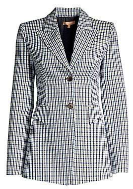 Michael Kors Women's Wool-Blend Plaid Blazer