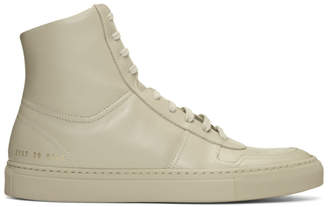 Common Projects Taupe BBall High Sneakers
